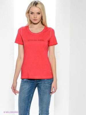 Футболка Bogner Jeans. Цвет: красный
