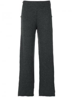 Вязаные брюки Ports 1961. Цвет: серый