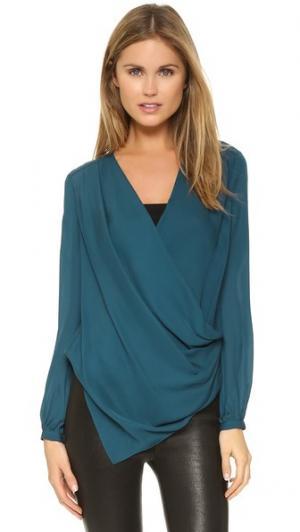 Драпированная блуза с запахом Haute Hippie. Цвет: украшение с сапфиром sri lankan