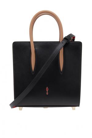 Кожаная сумка Paloma Small Christian Louboutin. Цвет: черный, бежевый, леопардовый, красный