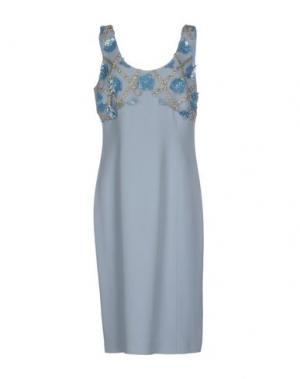 Платье до колена IVAN MONTESI. Цвет: небесно-голубой