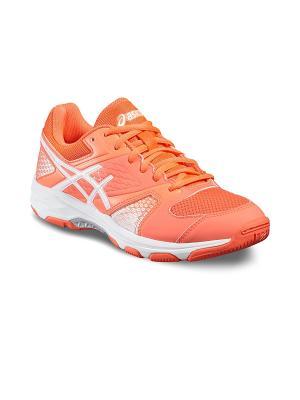 Спортивная обувь GEL-DOMAIN 4 ASICS. Цвет: коралловый, белый