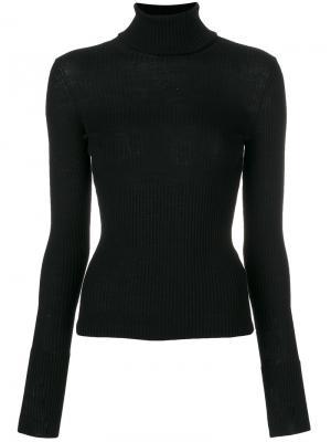 Блузка с высоким воротником MRZ. Цвет: чёрный