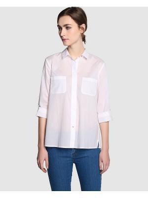 Блузка ZENDRA. Цвет: белый