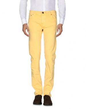 Повседневные брюки SHIELD. Цвет: желтый