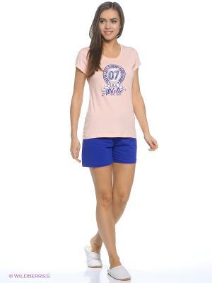 Комплект одежды Vienetta Secret. Цвет: персиковый, синий