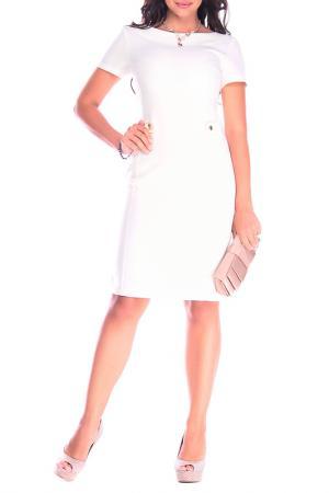 Платье Laura Bettini. Цвет: белый