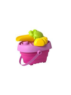 Ведерко детское Baby Trend. Цвет: фуксия, желтый, розовый, салатовый