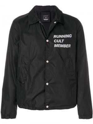 Куртка рубашечного кроя с принтом Satisfy. Цвет: чёрный