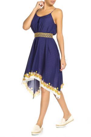 Платье длинное SAVOIA. Цвет: синий