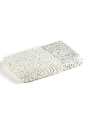 Полотенце для ванной 70х140 см Lace beige VERRAN. Цвет: бежевый