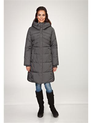 Стеганое пальто D`imma. Цвет: антрацитовый
