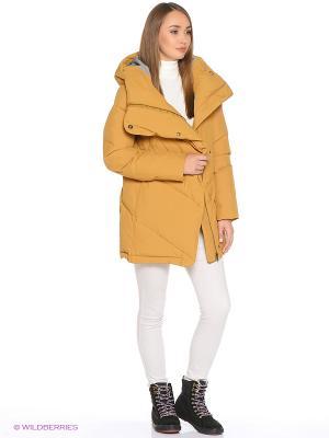 Пальто ROXY. Цвет: коричневый