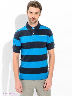 Футболка-поло Caterpillar. Цвет: темно-синий, синий