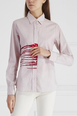 Хлопковая блузка Libertine. Цвет: красный