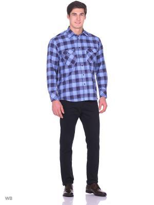 Рубашка Nicolo Angi. Цвет: темно-синий