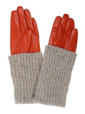 Перчатки Gusachi. Цвет: рыжий, бежевый