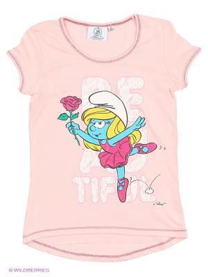 Футболка The Smurfs. Цвет: розовый