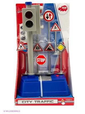 Светофор + набор дорожных знаков, 24 см, 12/24 Dickie. Цвет: серый