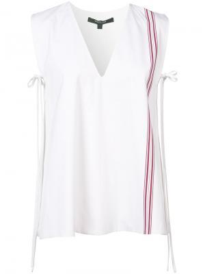 Stripe detail sleeveless blouse Derek Lam. Цвет: белый