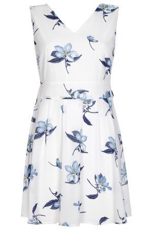 Платье Iska. Цвет: white, blue