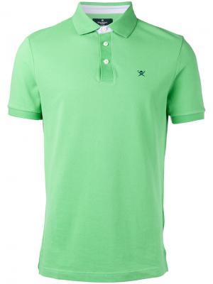 Рубашка-поло с логотипом Hackett. Цвет: зелёный