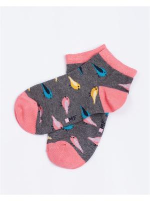 Носки Mark Formelle. Цвет: синий, серый, голубой, розовый, желтый