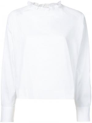 Ruffle collar blouse Atlantique Ascoli. Цвет: белый