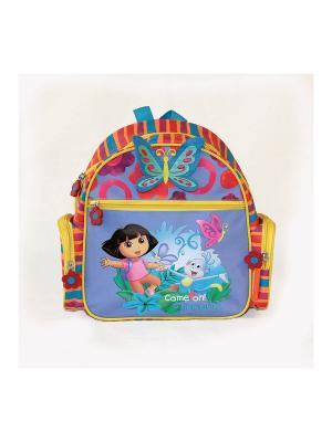 Рюкзак детский  Даша-путешественница Gulliver. Цвет: красный, оранжевый, сиреневый