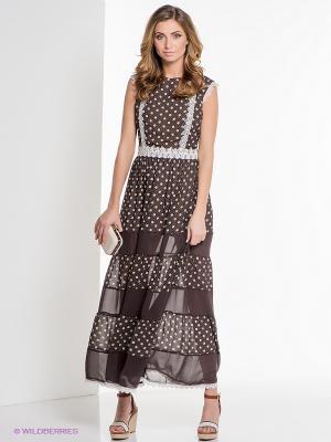 Платье ELENA FEDEL. Цвет: коричневый