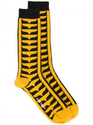 Носки Root Henrik Vibskov. Цвет: жёлтый и оранжевый