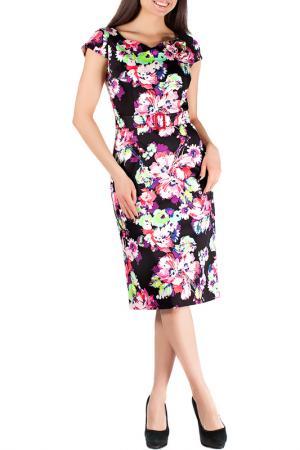 Платье Mannon. Цвет: розово-черный