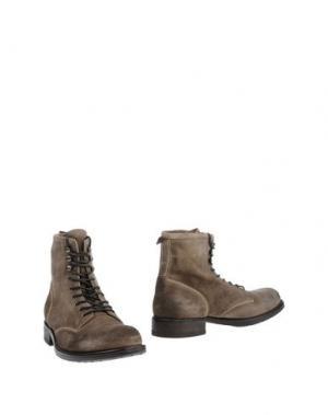 Полусапоги и высокие ботинки SMITH'S AMERICAN. Цвет: голубиный серый