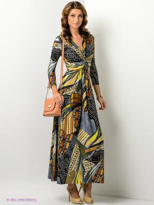 Платье МадаМ Т. Цвет: коричневый, серый меланж, оливковый