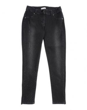 Джинсовые брюки MISS GRANT. Цвет: черный