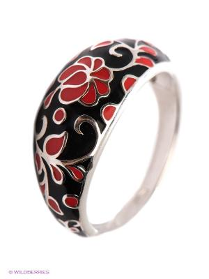 Кольцо SOKOLOV. Цвет: черный, коралловый, серебристый