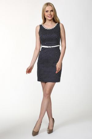 Платье с ремнем Lafaba. Цвет: синий, белый