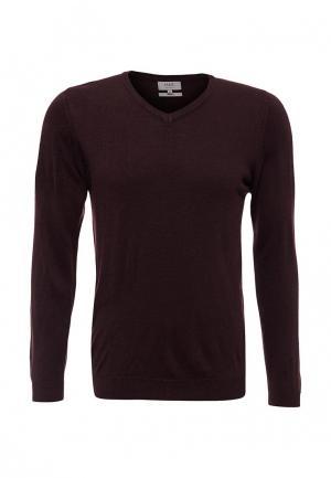 Пуловер Marks & Spencer. Цвет: бордовый