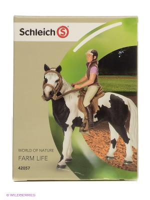 Набор для верховой езды с наездницей без лошади SCHLEICH. Цвет: бежевый