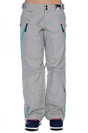 Штаны сноубордические женские  Lines Pant 23C-Gray Wash Oakley. Цвет: серый