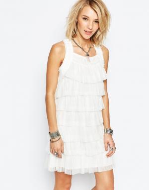 Deby Debo Платье с оборками Blanche. Цвет: белый