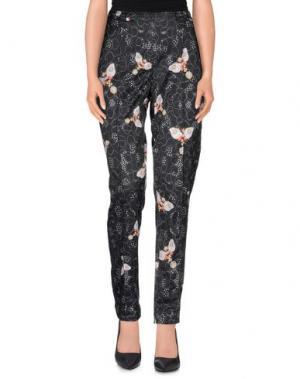 Повседневные брюки PICCIONE•PICCIONE. Цвет: стальной серый