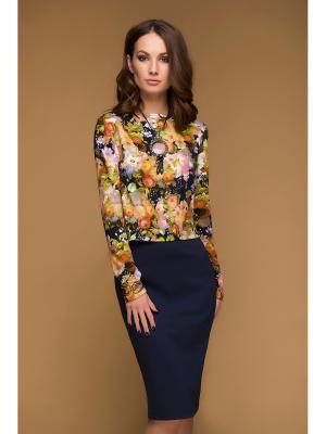 Костюм 1001 DRESS. Цвет: горчичный, желтый, индиго, оранжевый, синий, темно-синий