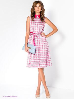 Платье Анна Чапман. Цвет: розовый, серый