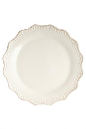Тарелка плоская 33 см H&H. Цвет: белый