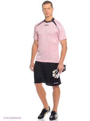 Комплект (футболка + шорты) Set Dribling Mc ASICS. Цвет: розовый, черный