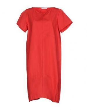Платье до колена N_8. Цвет: красный