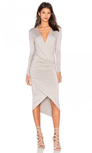 Платье с запахом cassie CHARLI. Цвет: серый