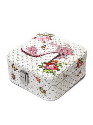 Шкатулка Eleon. Цвет: белый, розовый, серебристый
