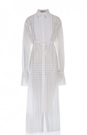 Блуза Alaia. Цвет: белый